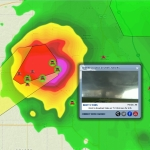 Zoom Map Live Video Tornado
