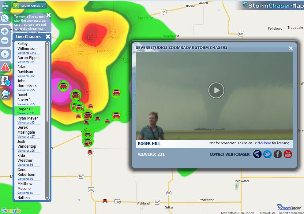 Live Streaming Tornado